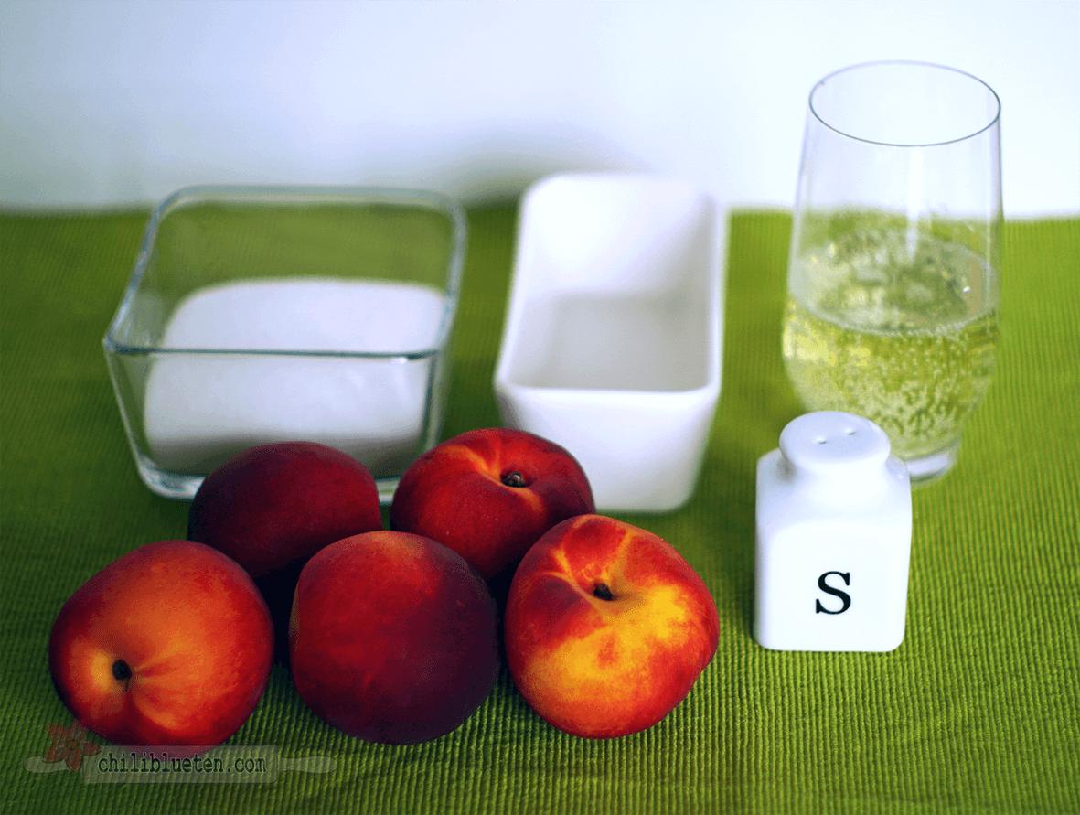 Zutaten für Nektarinen Sekt Sorbet