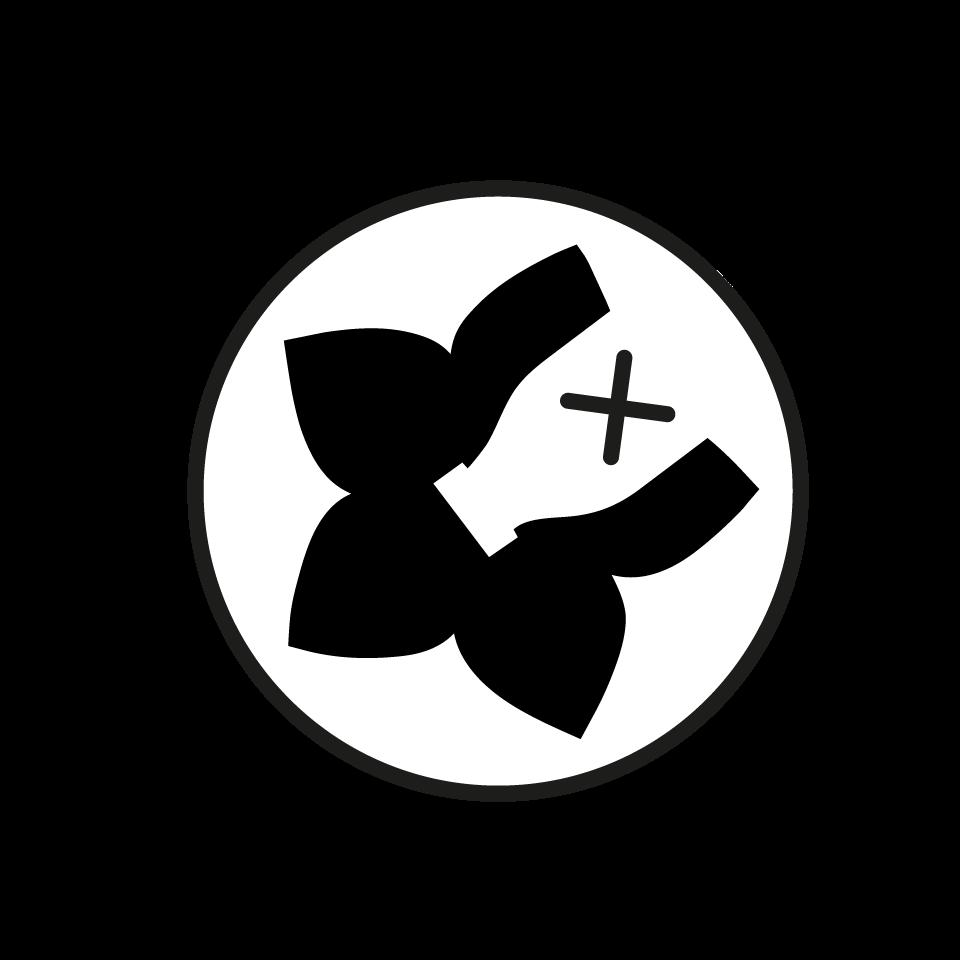 Chiliblüten Logo weiß