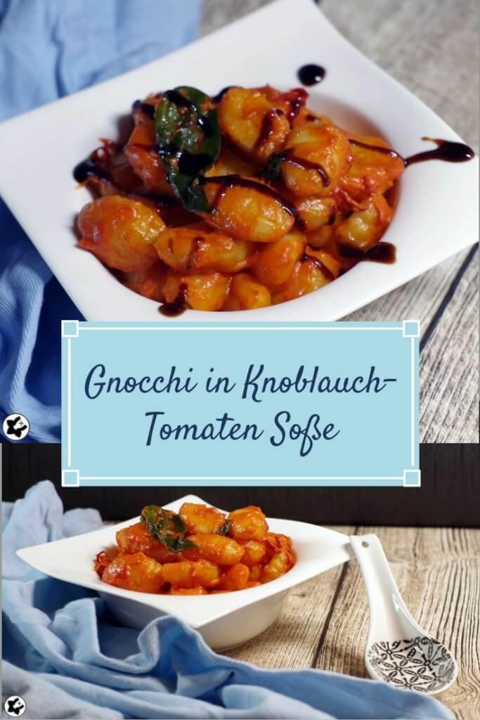 Gnocchi in Knoblauch-Tomaten Soße