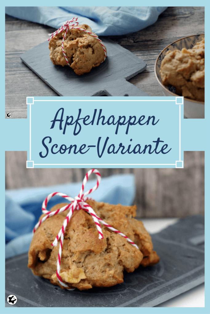 Apfelhappen - eine laktosefreie Scones Variante | chilibluetendotcom