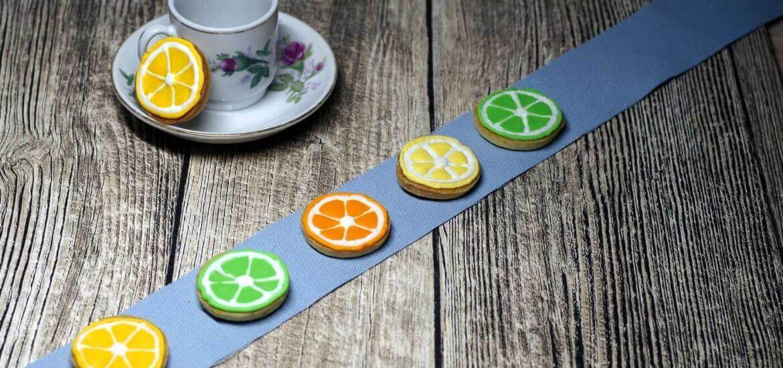 Zitruskekse: Zitronenkekse mit Royal-Icing Glasur als Orange, Zitrone und Limette   www.chiliblueten.com