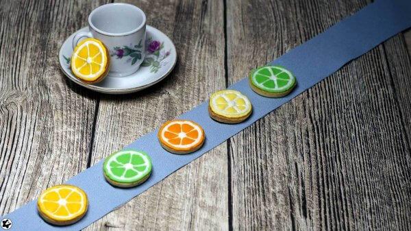 Zitruskekse: Zitronenkekse mit Royal-Icing Glasur als Orange, Zitrone und Limette | www.chiliblueten.com