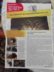 Zeitschrift der KatzenHilfe Karlsruhe | chilibluetendotcom
