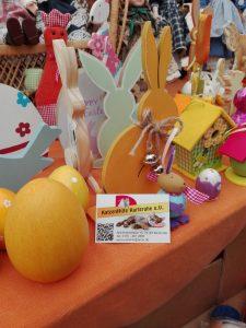 Osterdeko beim Frühlingsmarkt der KatzenHilfe Karlsruhe | chilibluetendotcom