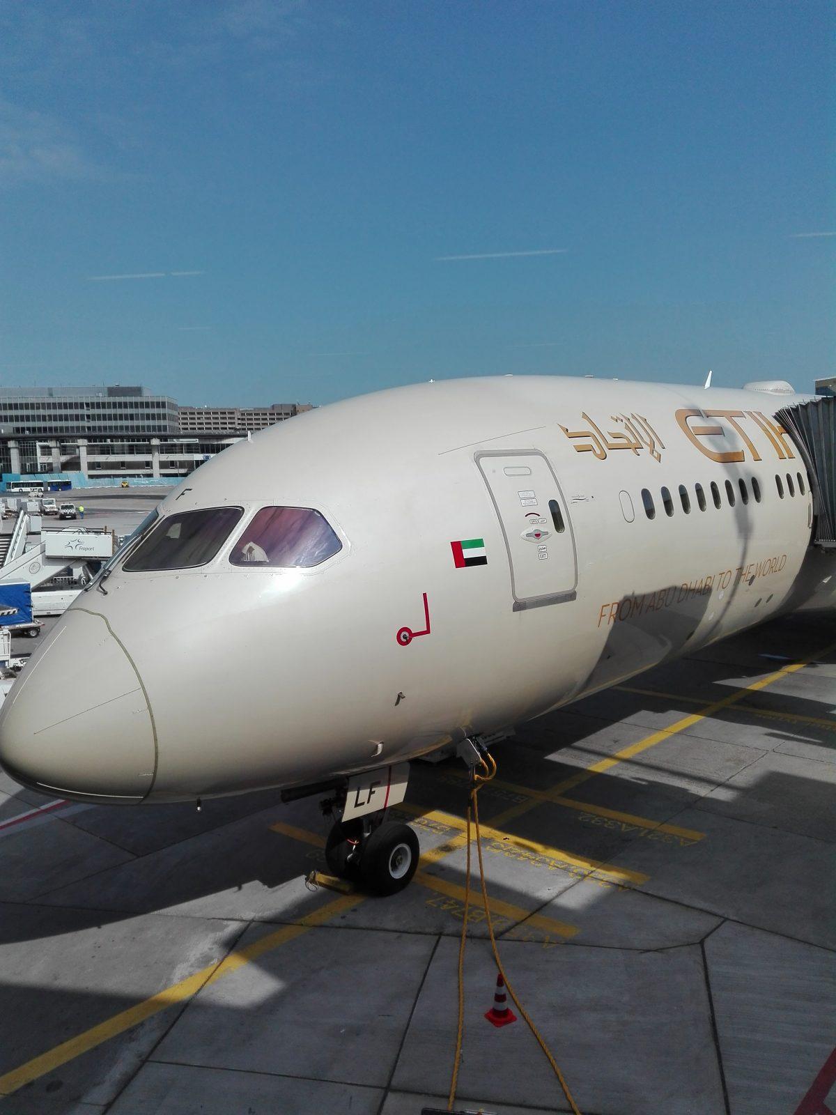 Ethihad Flugzeug