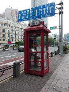 Telefonzelle mit WiFi
